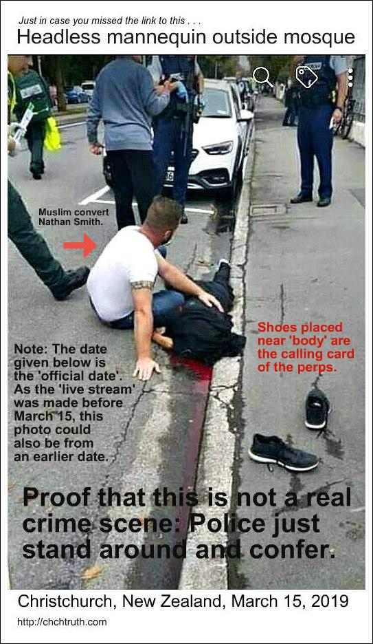 Real shooting victim and fake shooting victim